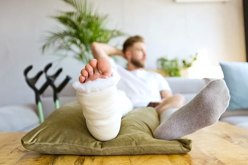 Broken leg injury